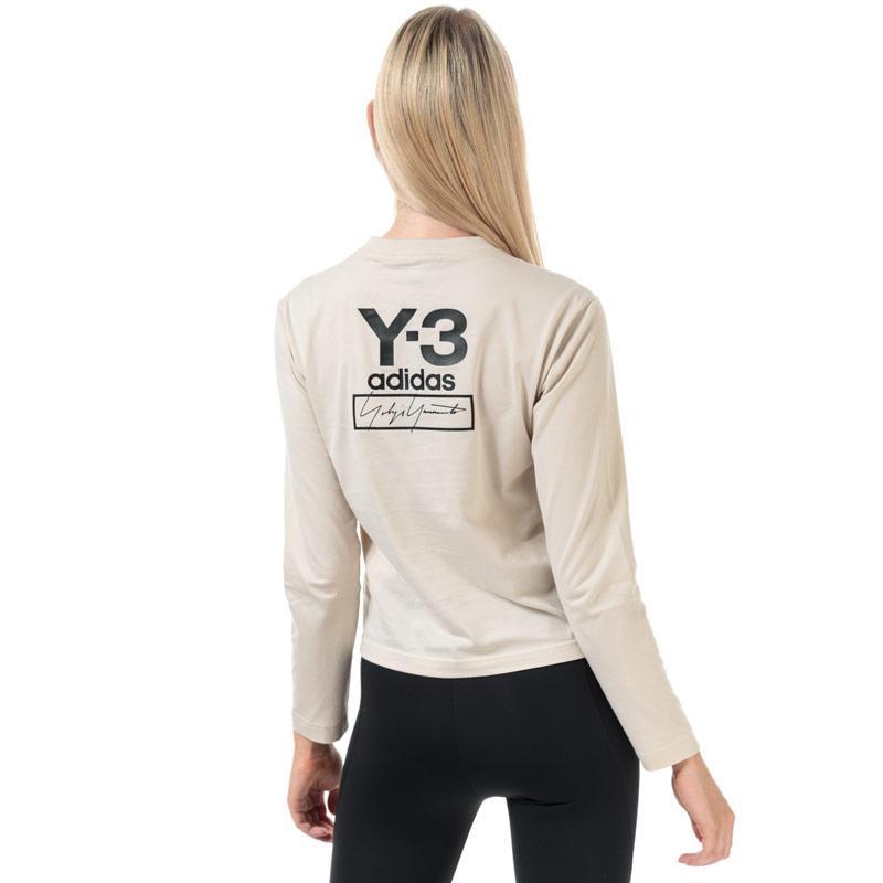 Y-3 Womens STKD Long Sleeve T-Shirt Ecru