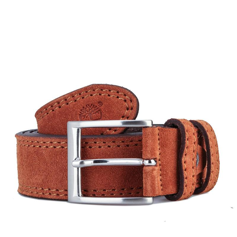 Timberland Mens Cow Leather Belt Tan