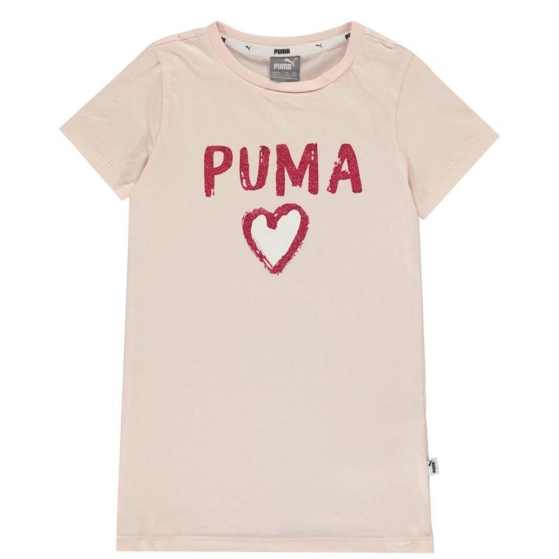 Puma T Shirt Girls Pink