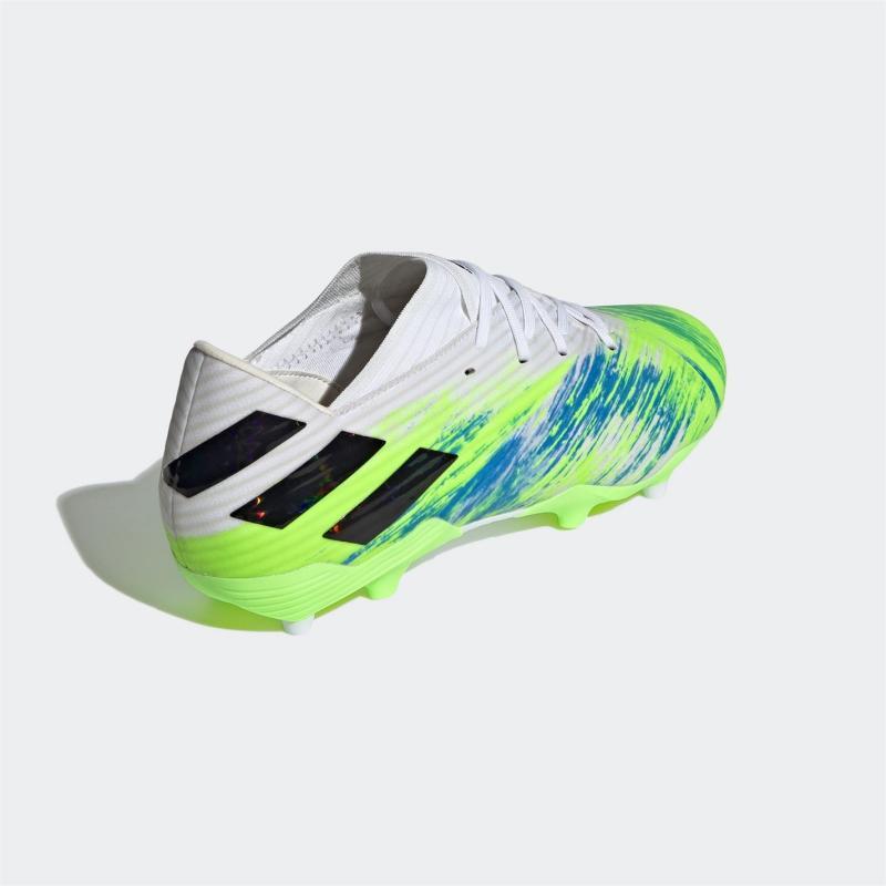 Adidas Nemeziz 19.2 Firm Ground Football Boots Mens White/Blk/Green