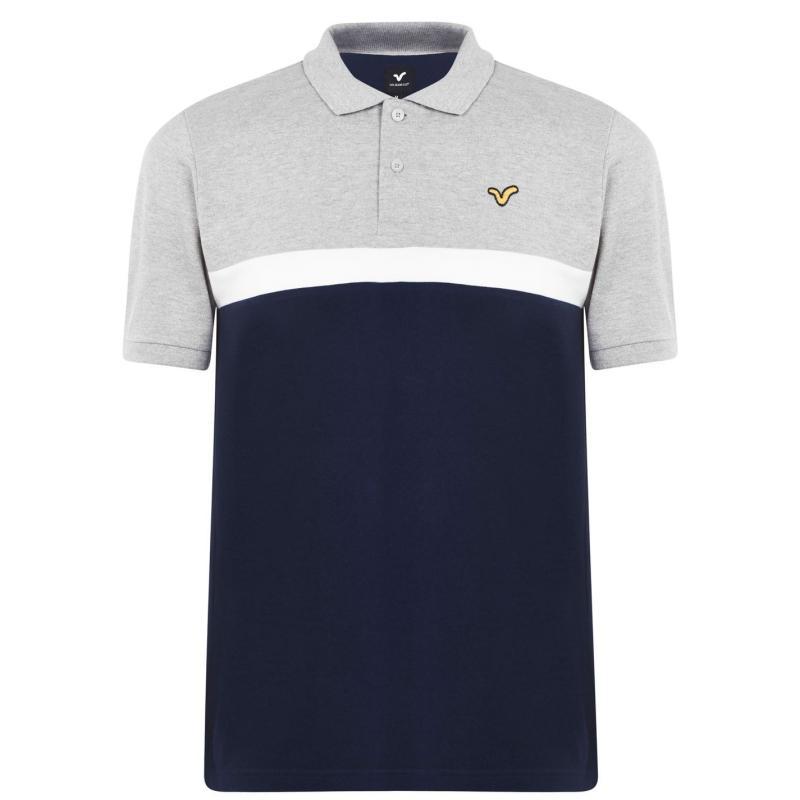 VOI Pescara Polo Shirt Mens Grey/White/Navy