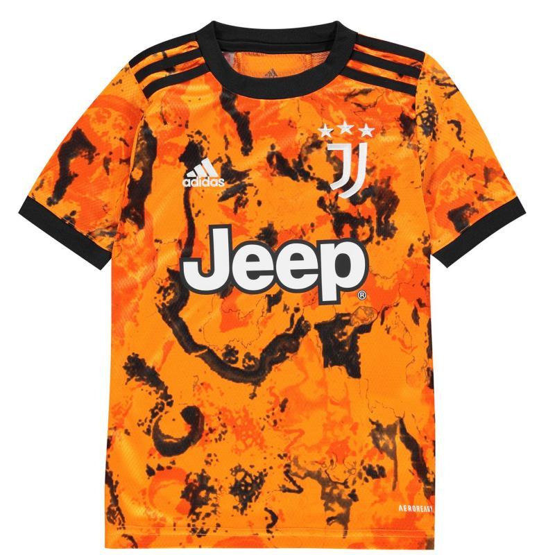 Adidas Juventus Third Shirt 2020 2021 Junior Orange