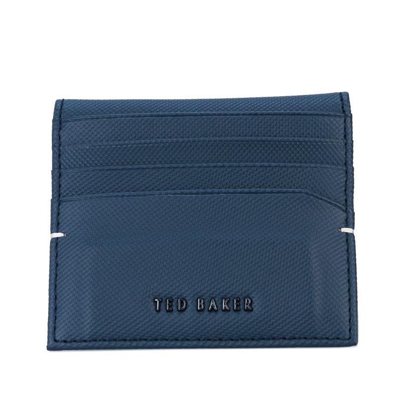 Ted Baker Mens Wonder Micro Perf Leather Card Holder Navy