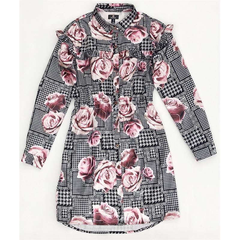 Firetrap Shirt Dress Junior Girls Rose Checked