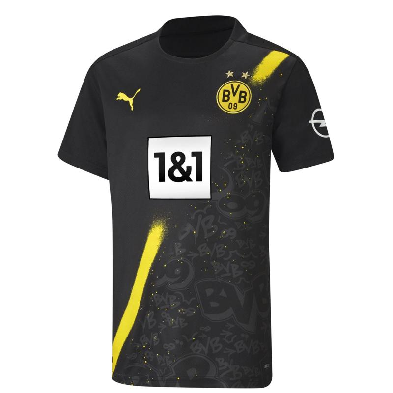 Puma Borussia Dortmund Away Shirt 2020 2021 Junior Black