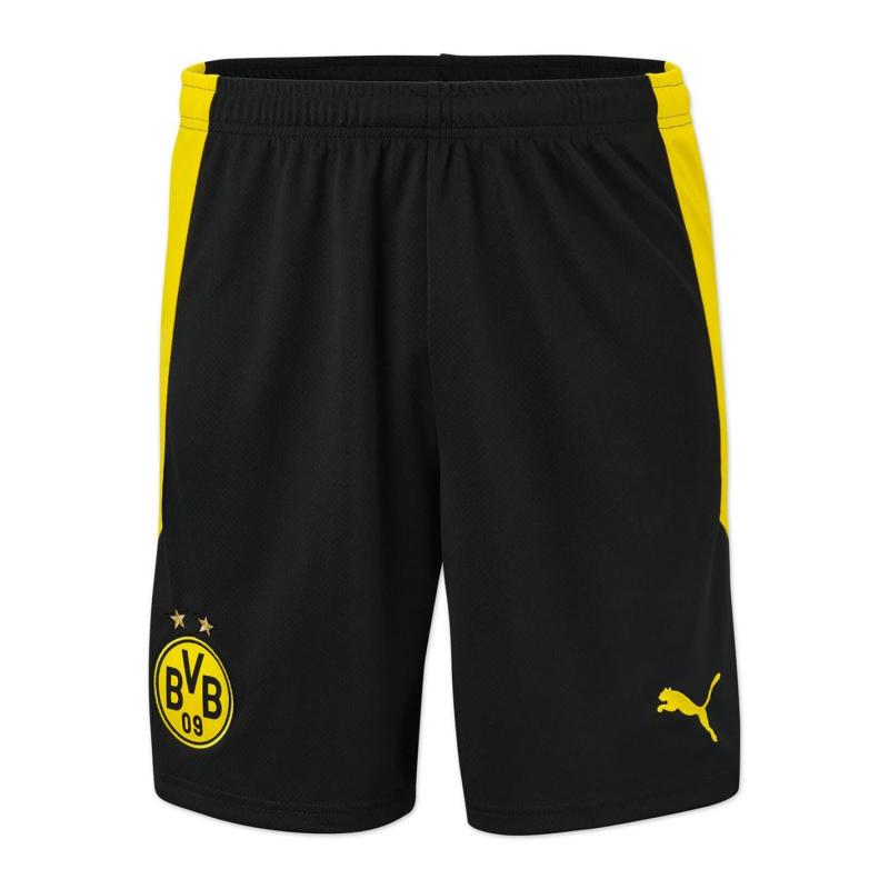 Puma Borussia Dortmund Home Shorts 2020 2021 Junior Black