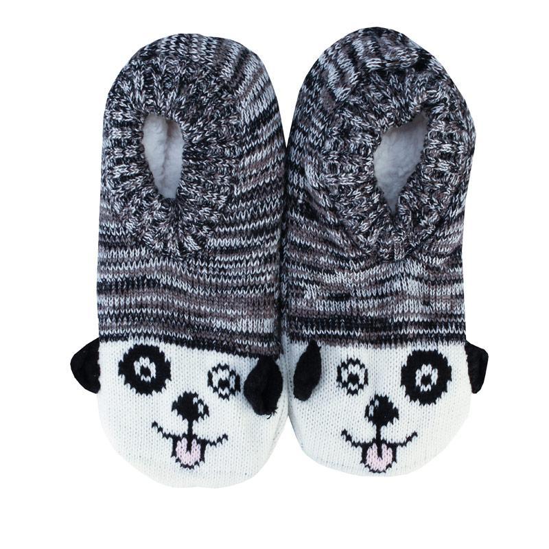 Brave Soul Womens Dog Slipper Socks Grey