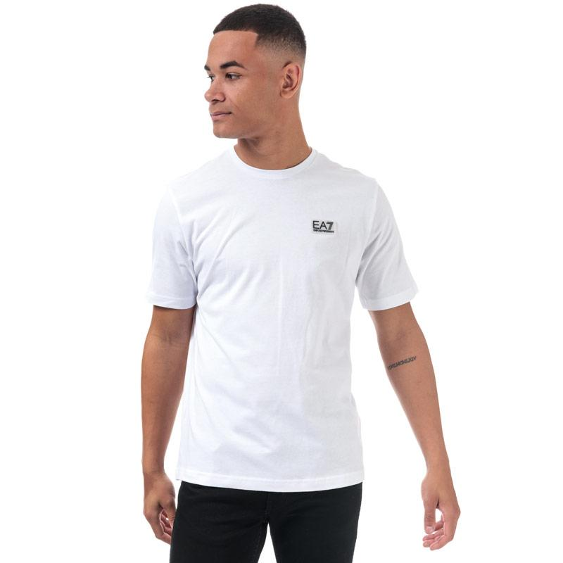 Tričko Emporio Armani EA7 Mens Core ID M Label T-Shirt White