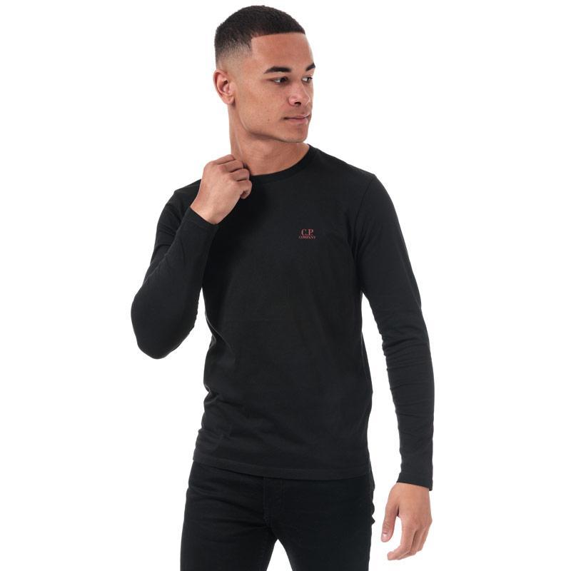 C.P. Company Mens J Dimond Logo Long Sleeve T-Shirt Black