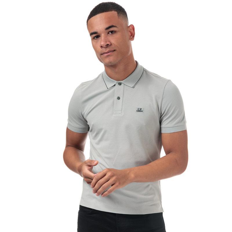 Tričko C.P. Company Mens Stretch Pique Polo Grey