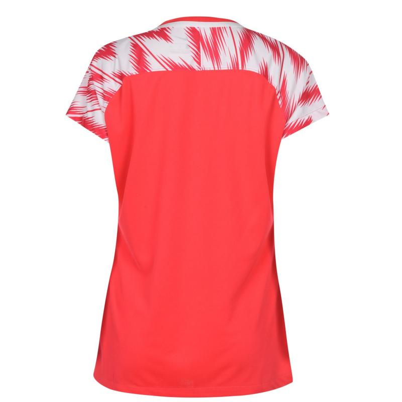Nike England Training T Shirt Ladies Red/White