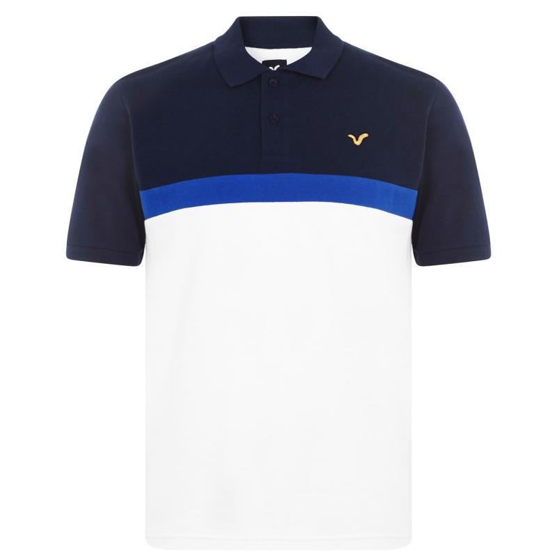 VOI Pescara Polo Shirt Mens Navy/Blue/White