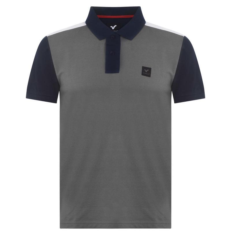 VOI Vasto Polo Shirt Mens Grey/White/Navy