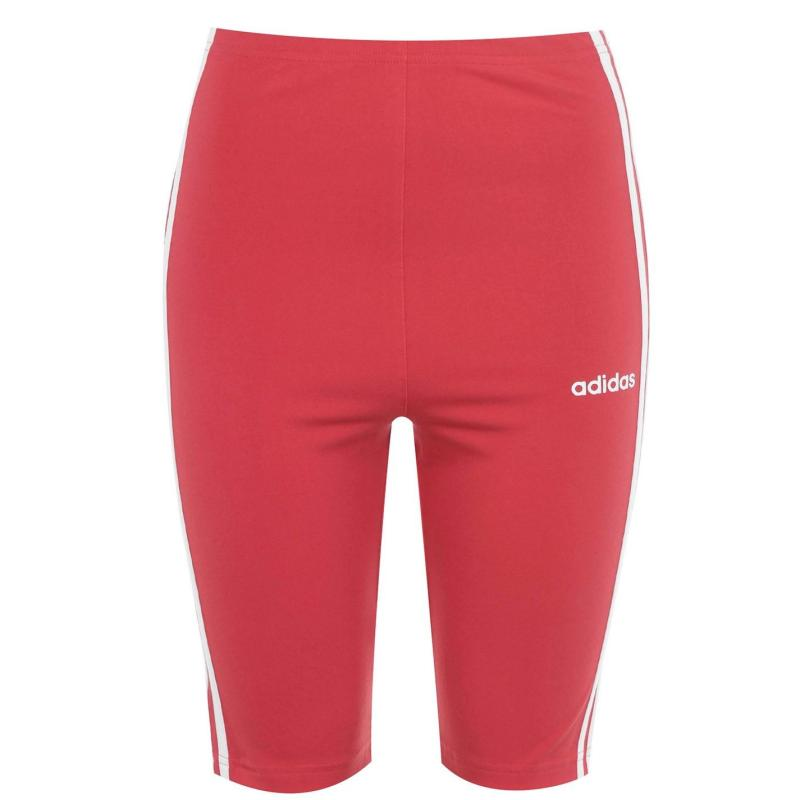 Adidas Essential 3S Shorts Womens GloryRed/Wht