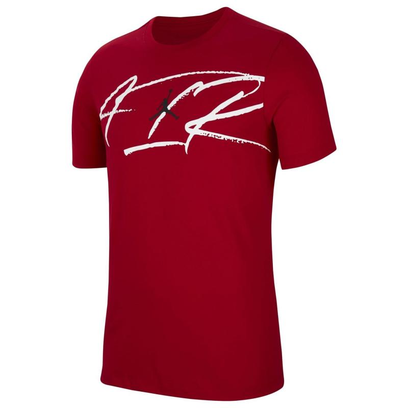 Tričko Air Jordan Script T Shirt Mens Red