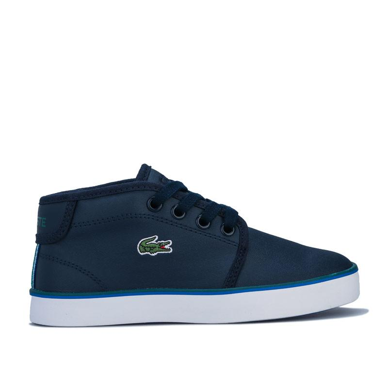 Boty Lacoste Children Boys Ampthill Trainers Navy