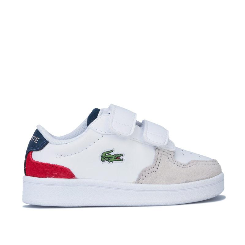 Boty Lacoste Infant Boys Masters Cup 120 Trainers White Navy