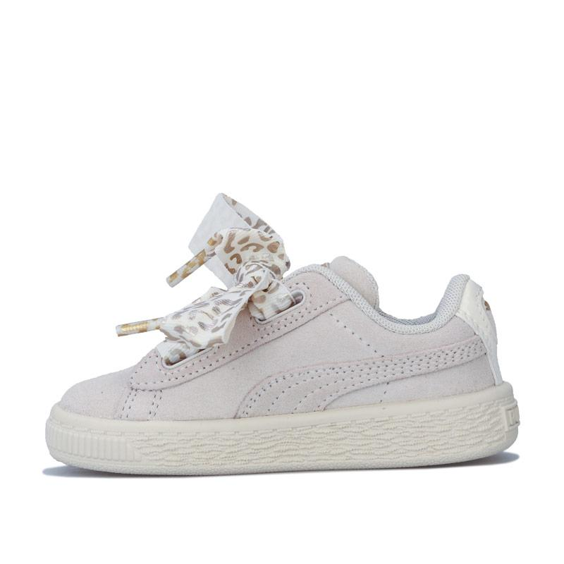 Puma Infant Girls Suede Ath Luxe Trainers Off White