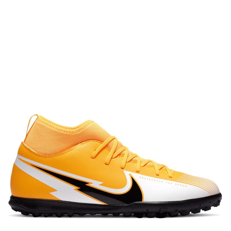 Nike Mercurial Superfly Club DF Junior Astro Turf Trainers LaserOrange/Wht