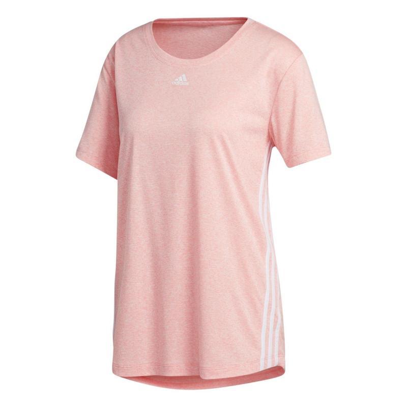 adidas 3S T Shirt Womens Pink/White