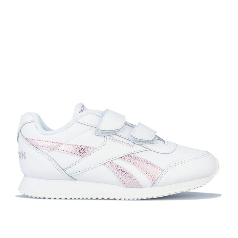 Reebok Classics Children Girls Royal Classic Jogger Trainers White pink