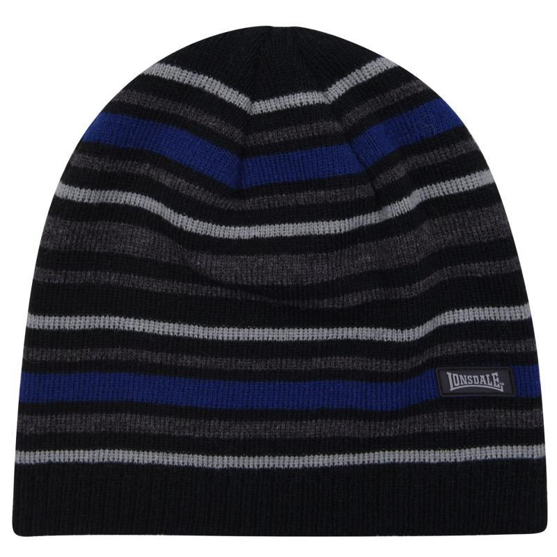 Lonsdale Hat Black/Charcoal