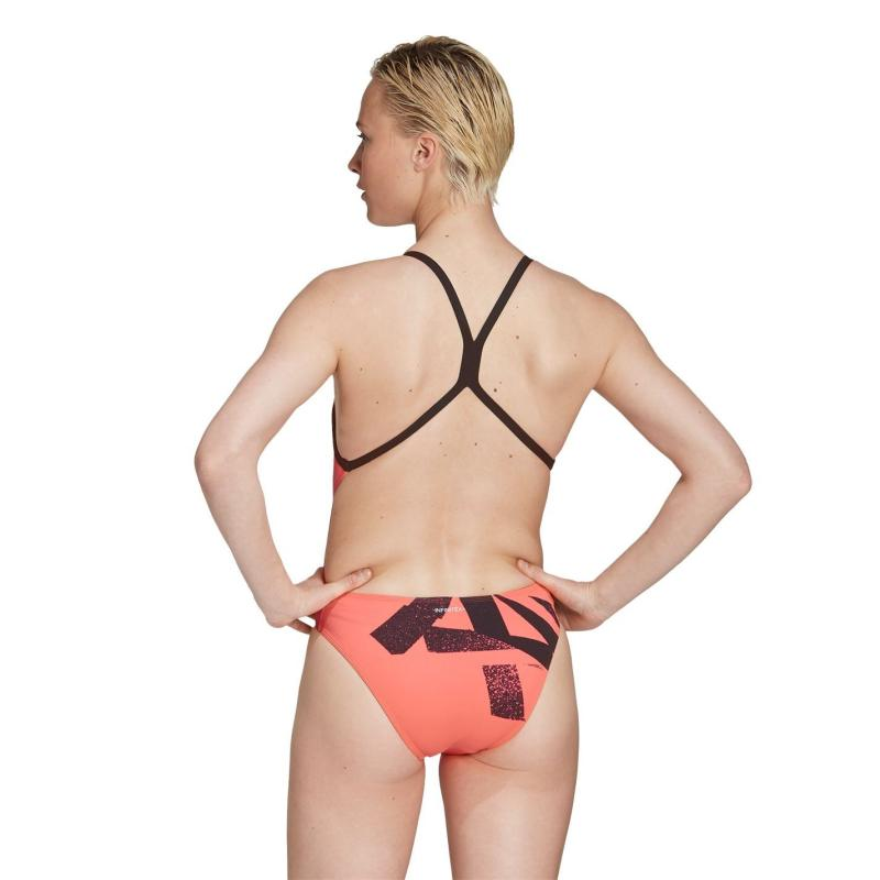 Plavky adidas Womens Pro Tokyo Swimsuit Compression Signal Pink
