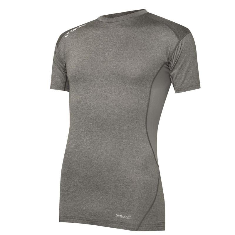 Sondico Core Base Short Sleeves Mens Grey Marl