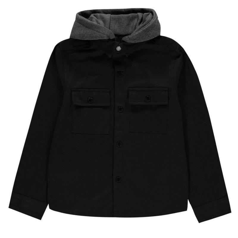 Košile Firetrap Shirt Junior Boys Black/Camo