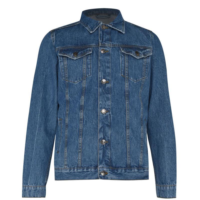 Lee Cooper Jeans Denim Jacket Mens Dark Blue