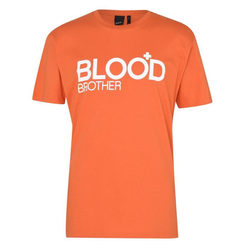 Tričko Blood Brother BB Trademark T Sn12 Orange