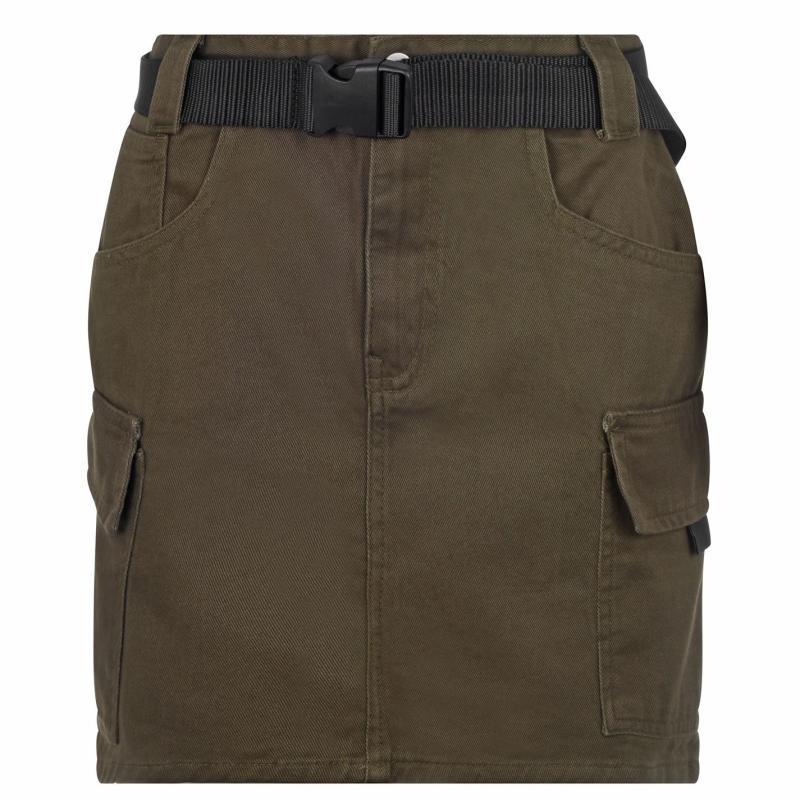 Sukně Golddigga Belted Cargo Skirt Ladies Khaki