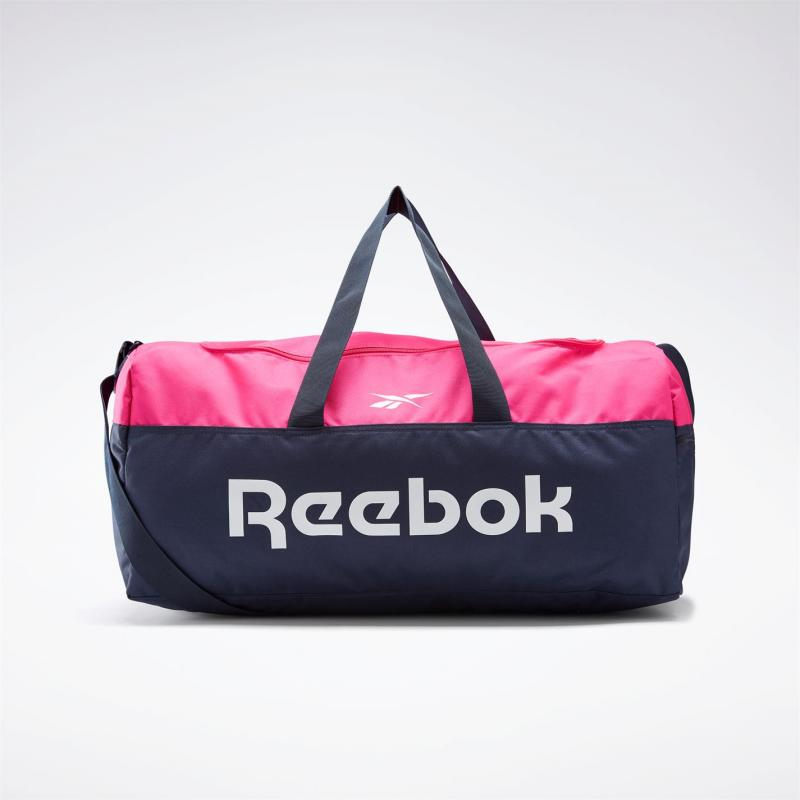 Reebok Active Core Grip Duffle Bag Medium Vector Navy / Proud Pink