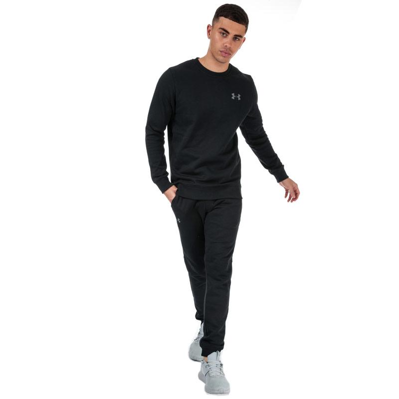 Mikina Under Armour Mens UA Rival Fleece Fitted Crew Sweatshirt Black