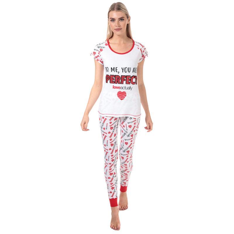 Pyžama Universal Pictures Womens Love Actually Pyjamas White red