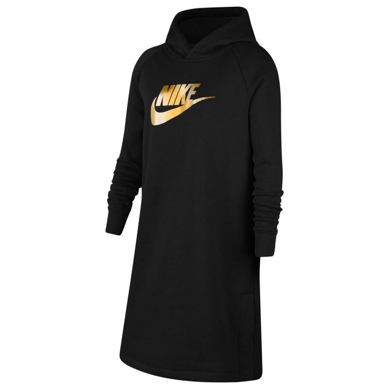 Šaty Nike Shine Hoodie Dress Juniors Black/White