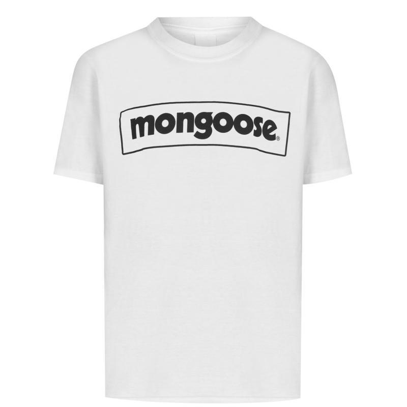 Mongoose Junior Logo Tee White/Black