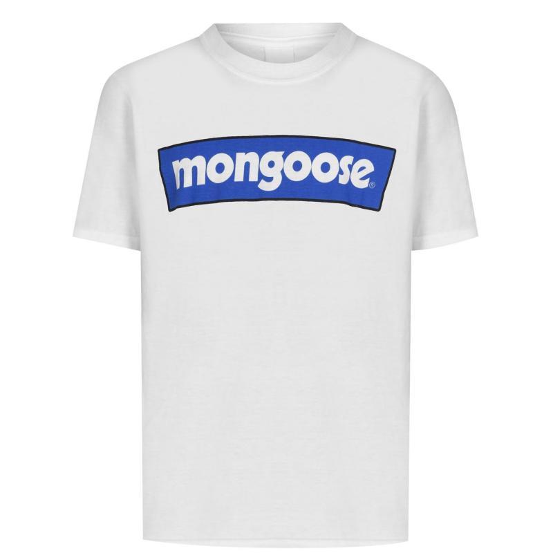 Mongoose Junior Logo Tee White/Blue