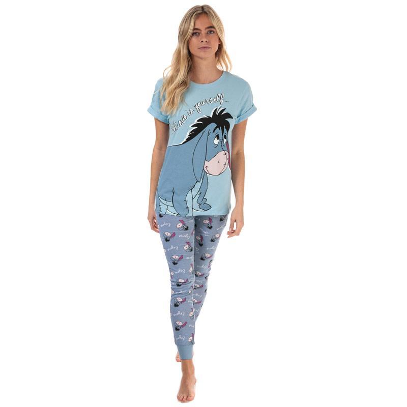 Pyžama Disney Womens Eeyore Pyjamas Blue