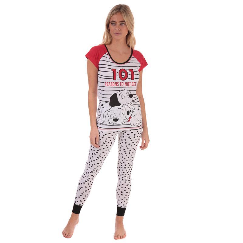 Pyžama Disney Womens 101 Dalmatians Pyjamas White red
