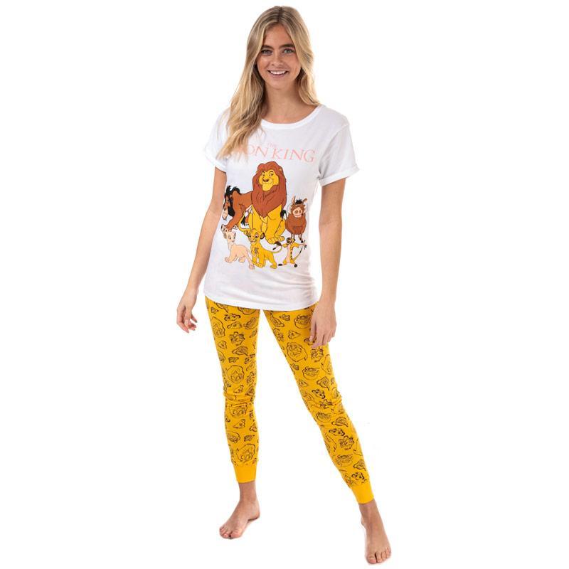 Pyžama Disney Womens Lion King Pyjamas White yellow