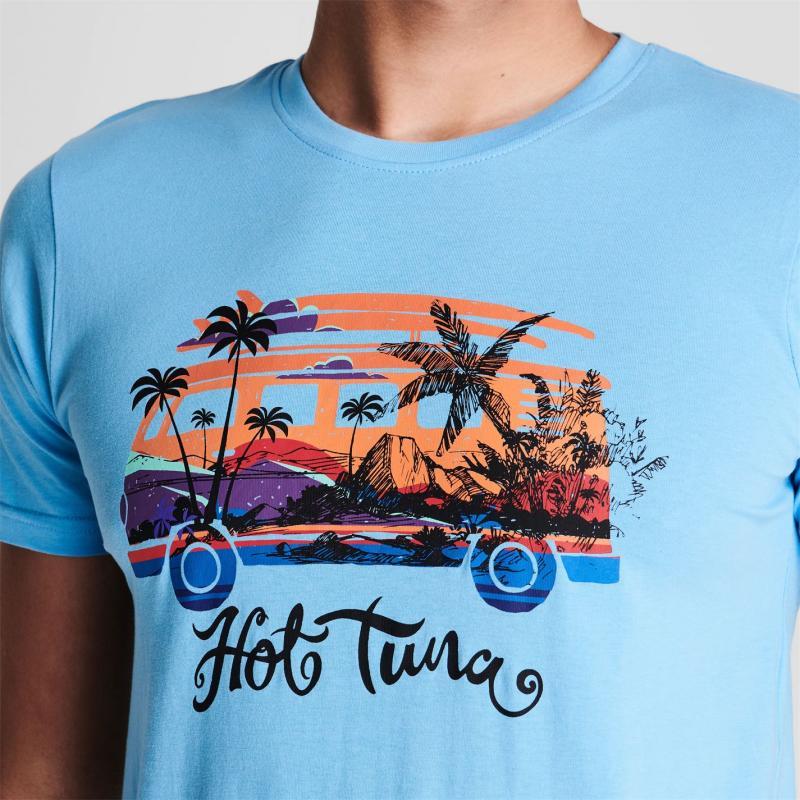 Tričko Hot Tuna Crew T Shirt Mens P.Blue Camper