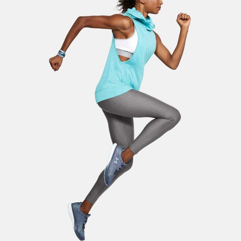 Under Armour HeatGear Armour Tights Ladies Charcoal Light Heather