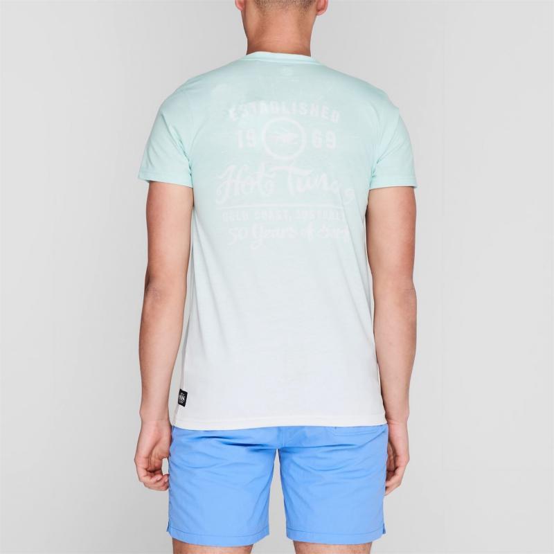 Tričko Hot Tuna Dip Dye T Shirt Mens Mint