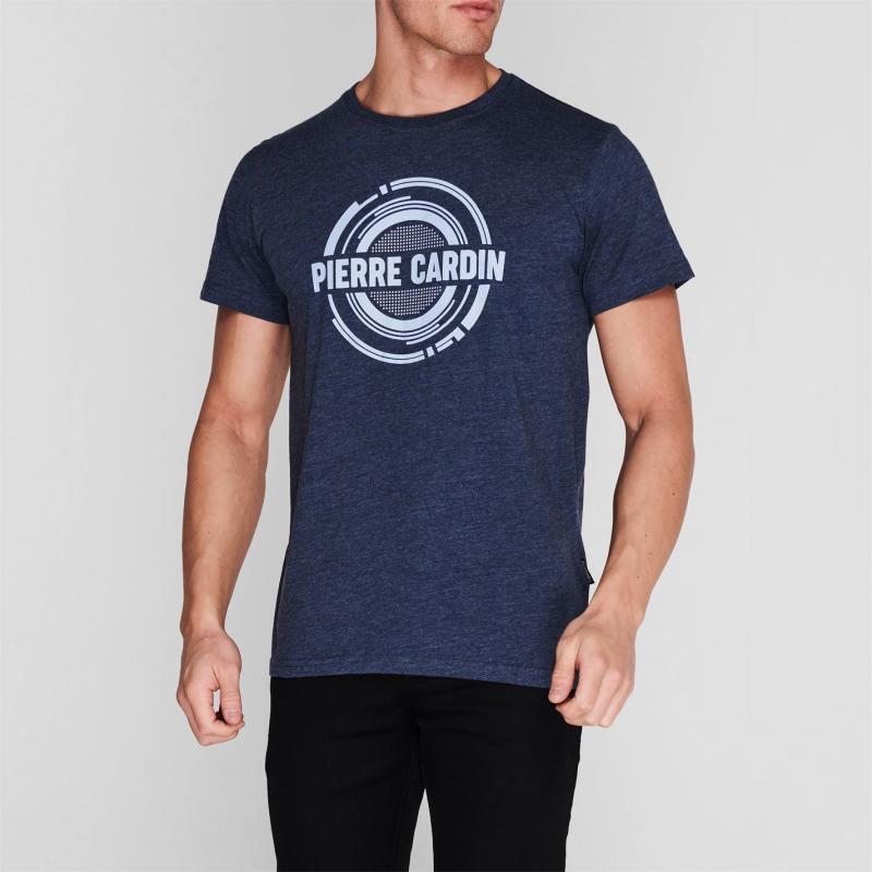 Tričko Pierre Cardin C Logo T Shirt Mens Navy Marl