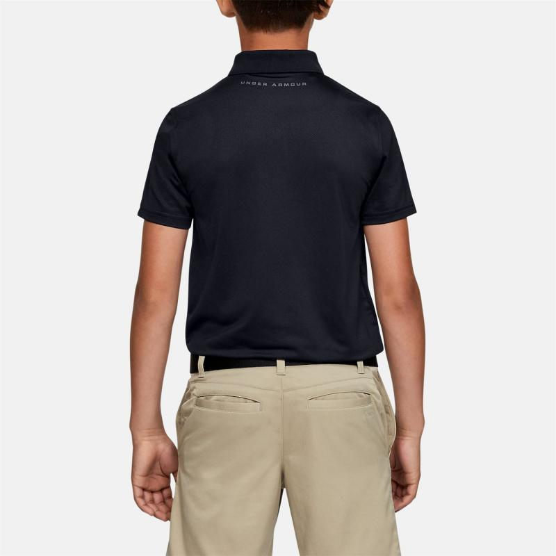 Kalhoty Under Armour Performance Golf Polo Shirt Junior Boys Black