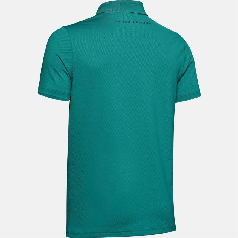 Tričko Under Armour Performance Golf Polo Shirt Junior Boys Teal Rush