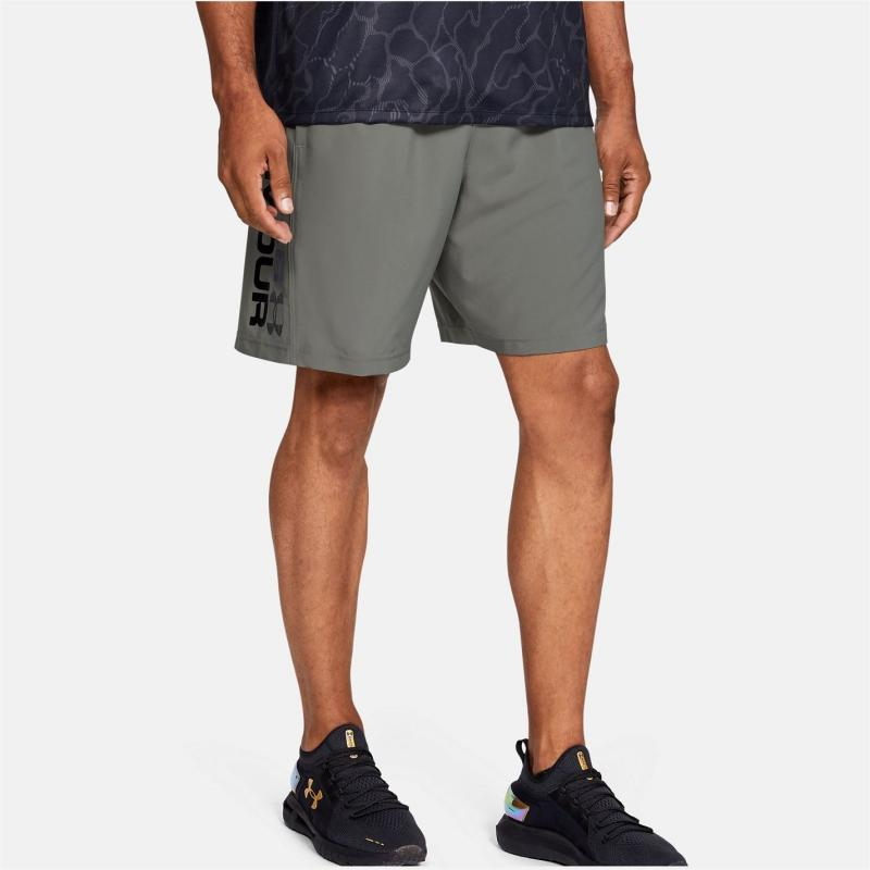 Under Armour Woven Graphic Shorts Mens Gravity Green