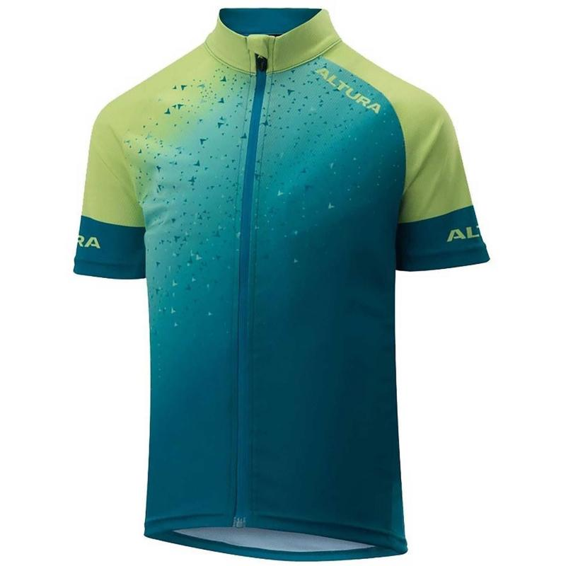 Altura Youth Icon Short Sleeve Tokyo Jersey Blue/Green