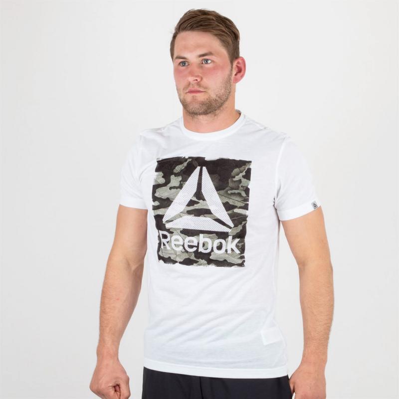 Tričko Reebok Camo SS Tee White